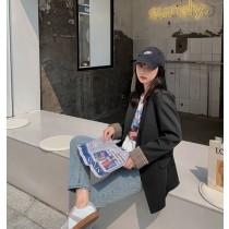 【現貨7.26IBV】972新春收腰顯瘦高級感時尚氣質休閒西服(黑色)