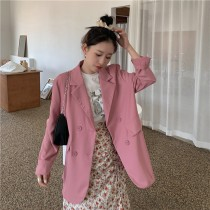 【現貨5.06IBV】薄款防曬休閒西裝外套(粉色)