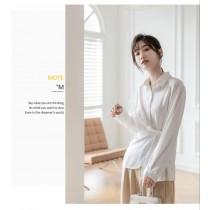 【現貨4.64IBV】601# 新款設計感上衣韓版通勤垂感長袖上衣