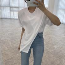 【現貨3.85IBV】韓國新款不規則開叉短袖T恤(三色)