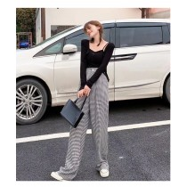 【現貨10.8IBV】1253# 2021秋季新款 高腰顯瘦直筒休閒寬褲