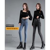 【預購5.06IBV】視覺瞬減少5KG神褲 修身高彈高腰瘦瘦牛仔褲