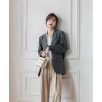 【預購7.26IBV】980# 韓版2021年春裝高級感三粒扣西裝外套(星河灰)