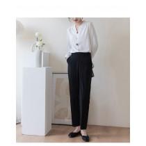 【現貨4.64IBV】2021新款秋季後鬆緊收腰顯瘦西裝褲
