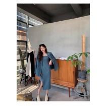 【現貨11.59IBV】983#新款女神范西裝套裝兩件套(藍色)