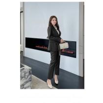 【預購12.41IBV】807# 韓國新款 時尚西裝氣質顯瘦套裝(黑色)