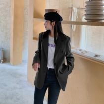 【現貨7.26IBV】970# 新款韓版寬鬆休閒慵懶顯瘦西裝外套(黑色)