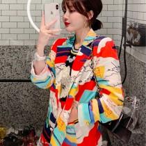 【現貨6.99IBV】小眾設計 印花時尚chic顯瘦長袖薄款西裝
