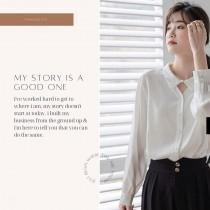 【現貨4.64IBV】602# 新款溫柔風寬松長袖設計感白襯衫